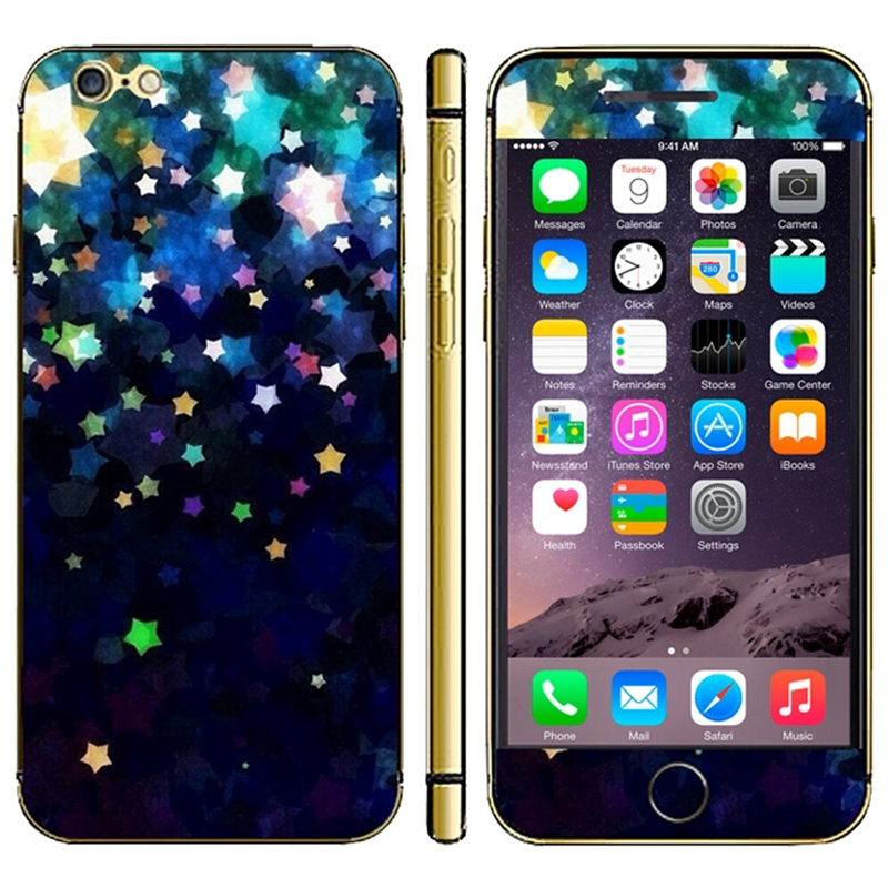 Shining Star Twinkling Cell Phone Protective Decoration Stickers Mobile Phone Decal Stickers for iPhone 6 Plus(China (Mainland))