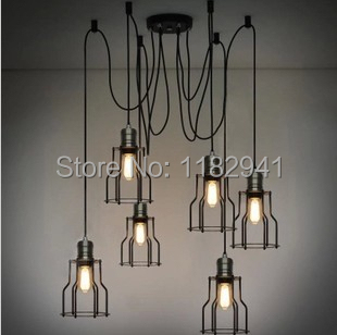 Free shipping Dia 15cm Vintage chandeliers lamp Metal pendant lampshade Loft style E27 110-240V with Vintage Edison Bulb ST64<br><br>Aliexpress