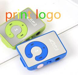 50pcs/lot Chrismas Gift Digital Clip MP3 Sport MP3 Player MP 3 Player + Retail Box + USB Cable + Earphone print logo(China (Mainland))