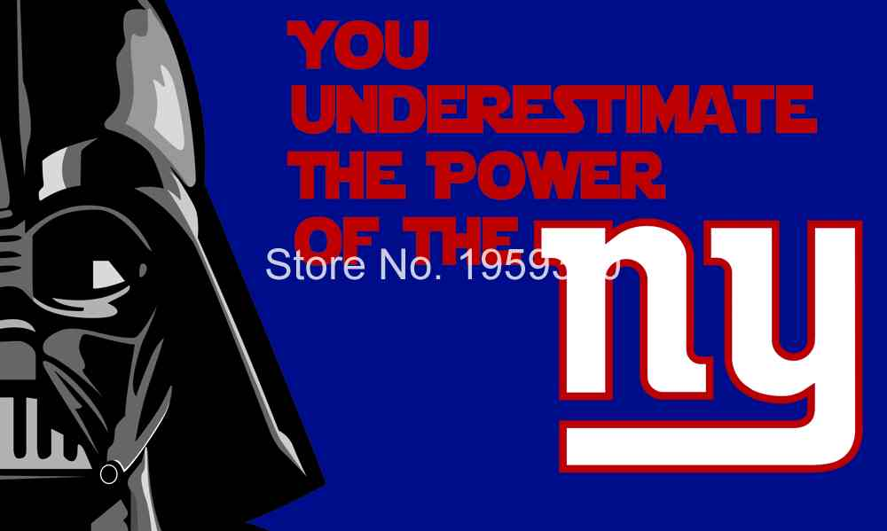 New York Giants star wars flag 3ftx5ft Banner 100D Polyester Flag metal Grommets 40220(China (Mainland))