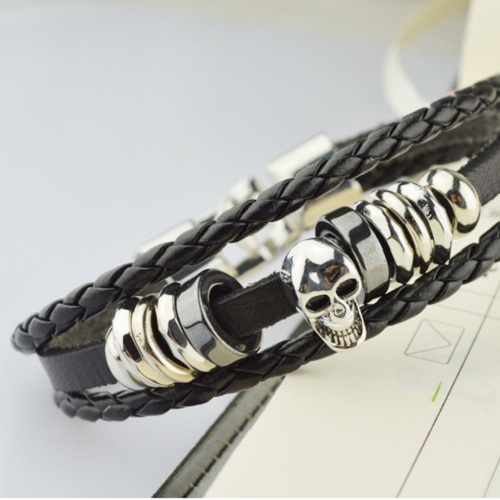 Pulseras Hidden safety clasp Stainless Steel Cross Trendy Leather New Arrival Loom Bands 2015 New Men