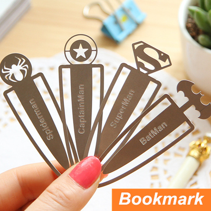 12 pcs/Lot Novelty metal bookmarks for books Kids paper clips book marker Stationary Office School supplies OL014(China (Mainland))
