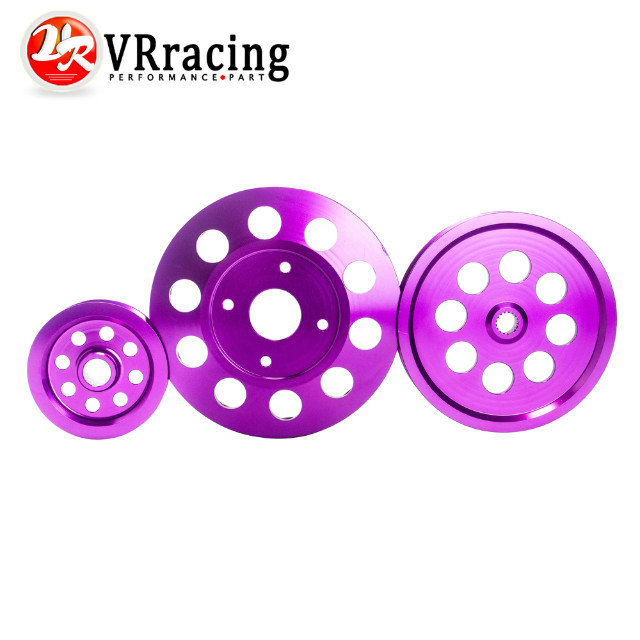 VR STORE Light weight crank pulley New FOR Nissan GTR BNR32 RB26DETT RB20 RB25 Underdrive Light