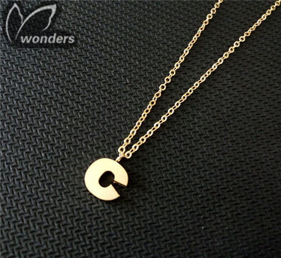 Fashion Jewelry 2015 New Initial C pendant &amp; necklace 18K Gold plated Trendy necklace<br><br>Aliexpress
