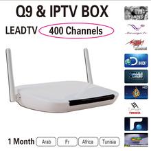 Quad Core Android Tv Box Q9 With 1 Month Arabic French IPTV Account Kodi Preloaded Smart Tv Box Arabic Iptv Free Shipping