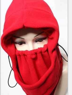 Women's Thick Fleece Hat Outdoor Winter Face Mask Hats Windproof Cycling Neck Warm Helmet Hood - SuperDeal Mall store