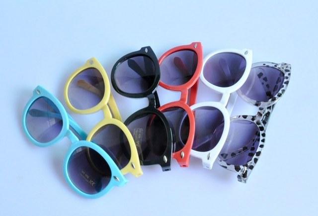 High Quality 2013 South Korean Big Round Frame New Arrow Children Kocotree 12202  Anti-uv Baby Girl Sunglasses With Metal Rivet