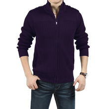 Free shipping plus size male european version 2xl-7xl long-sleeve zipper cardigan 155 bust Casual purple sweater (China (Mainland))