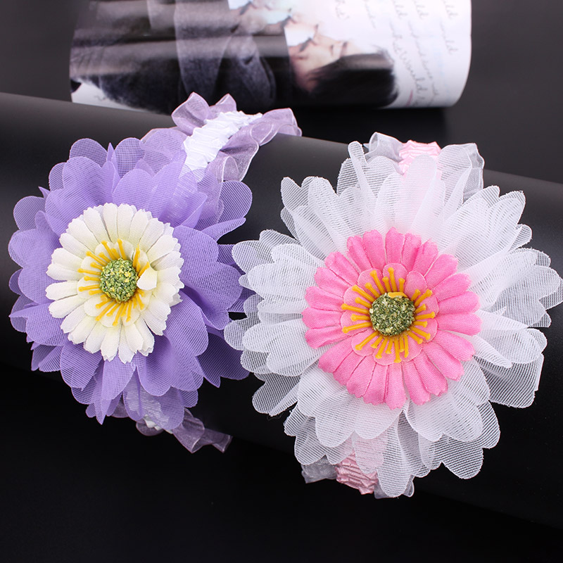 2016 New Fashion Multi-color Children Kids Baby Girls Colorful Flowers Headband Lovely Headwear Hair Band Head Accessories(China (Mainland))