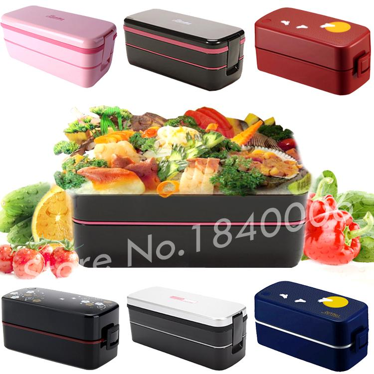buy japan style double tier japanese bento lunch box large capacity meal box. Black Bedroom Furniture Sets. Home Design Ideas