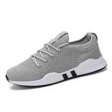 2019 novos sapatos masculinos tênis casuais respirável sapatos de malha ar zapatillas hombre deportiva sapato masculino adulto tamanho grande(China)