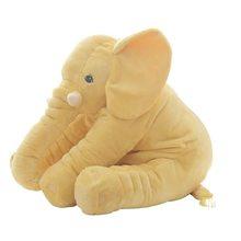 40/60 cm de Altura Grande Elefante de Pelúcia Boneca de Brinquedo Crianças Dormindo Almofada de Volta Bonito Elefante de Pelúcia Bebê Acompanhar Boneca xmas Gift(China)