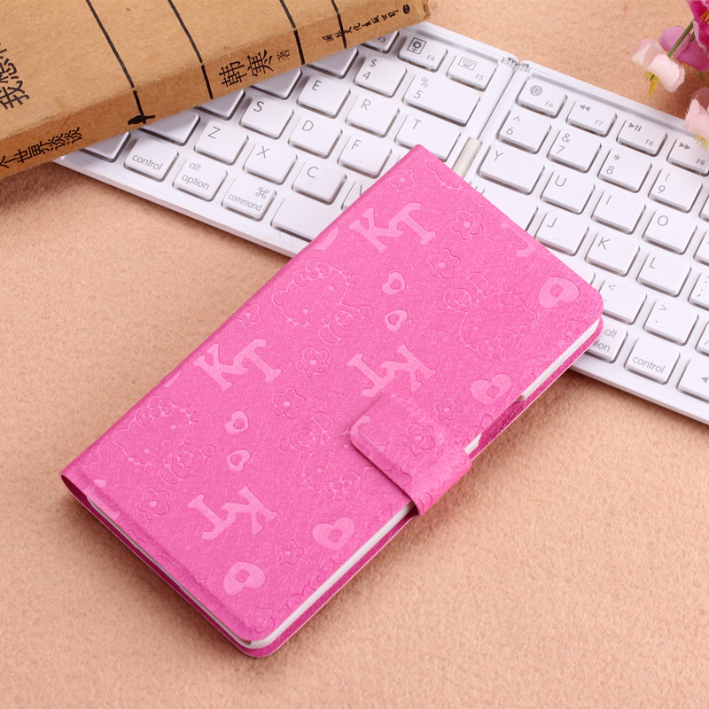 Luxurious Huawei honor 6, New high quality HelloKitty Genuine Wallet Leather Cover Case For huawei honor 6 case freesjipping(China (Mainland))