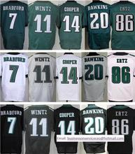 Top Quality 11 Carson Wentz 14 Riley Cooper 20 Dawkins 86 Zach Ertz 91 Fletcher Cox 43 Sproles 98 Barwin free fast shipping(China (Mainland))