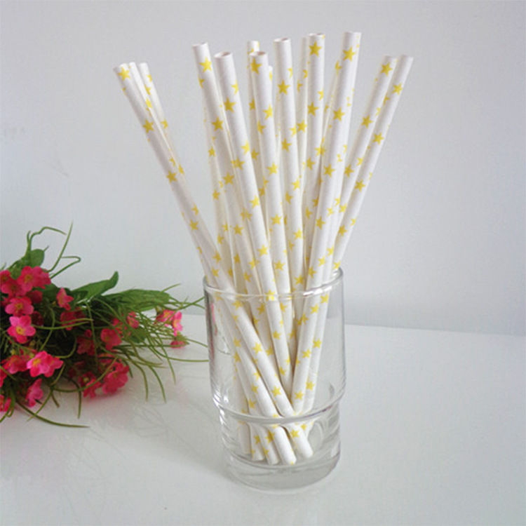 25pcs Foil Paper Straws for kids birthday & wedding decorative party event supplies Creative Drinking Straws(China (Mainland))