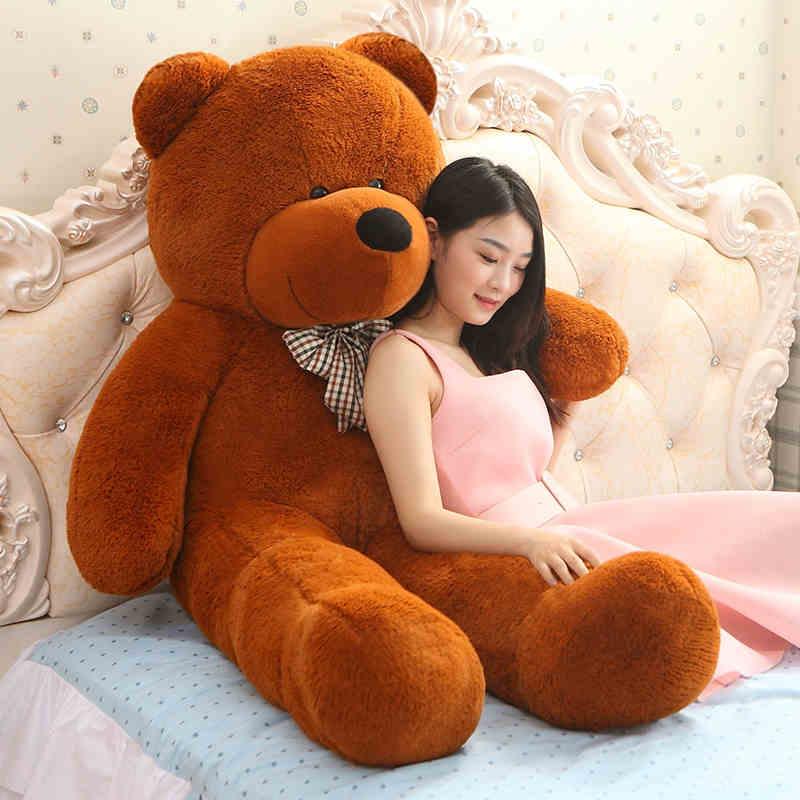 Giant teddy bear 160cm large big stuffed toys animals plush life size kid children baby dolls lover toy valentine gift lovely(China (Mainland))