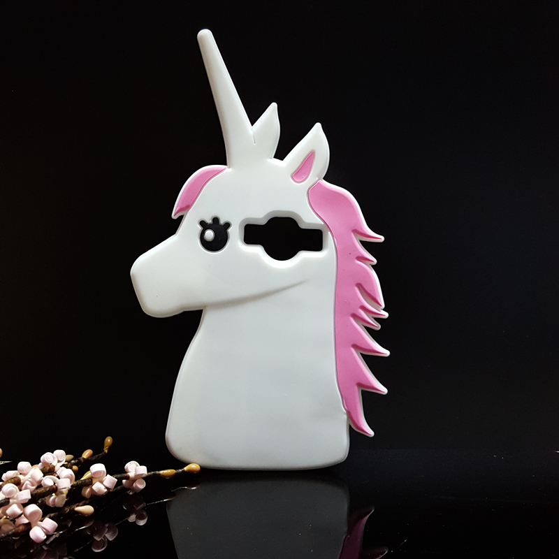 3D Cute Cartoon Unicorn Soft Silicone Rubber Case Cover Samsung Galaxy Core Prime G360 G360H / J1 Ace J110F  -  International Fashion Goods Stores store