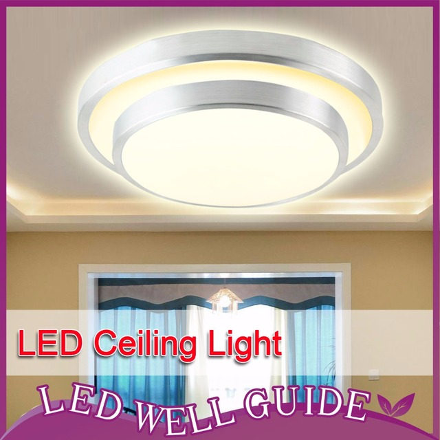 LED Ceiling Light Aluminum+Acryl 18w 24w 32w 110V~265V 8.1~13.7inch Surface Mounted Warm white Cool white LED down light