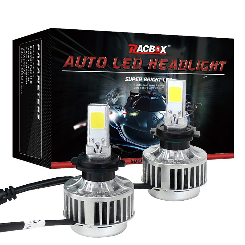 Racbox LED H7 Headlight Conversion Kit 33w 3000LM White Bulb HID Xenon Kit Headlamp 12v Bulb Car Fog Light With CREE LED Chips(China (Mainland))