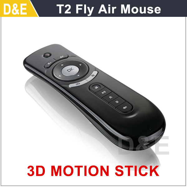 Free Shipping 1PC T2 Air Mouse 2.4G 3D Motion Stick Remote PC Mouse Mice for TV box Smart TV Media Player Device(China (Mainland))