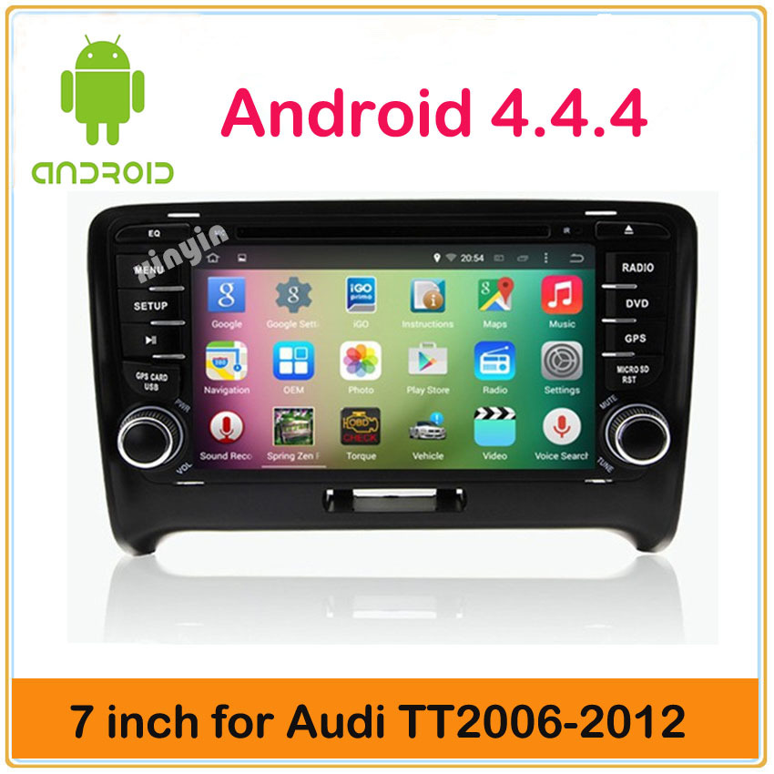 Android 4.4 Car HeadUnit Sat Nav DVD Player for Audi TT 2006-2012 with GPS Multimedia Navigation Radio Stereo System Bluetooth(China (Mainland))