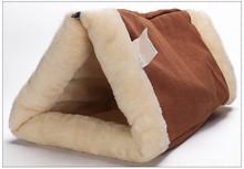 Petminru Warm Dog House Cat Sleeping Bag Pet Cat Tunnel Soft Pet House Sofas  Nest Small Pet Bed Bag