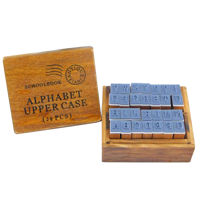 Cute fonts Anglais Cursive Digital English Stamp Wooden AlPhaBet Digital And Letters Seal Set Standardized Stamps(China (Mainland))