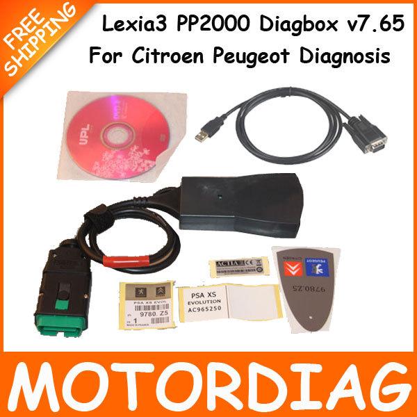 Lexia 3 PP2000 Lexia3 V48 V25 Citroen Peugeot Diagnostic Tool Lexia-3 Auto Code Reader Scanner Automotivo Diagbox V7.65(China (Mainland))