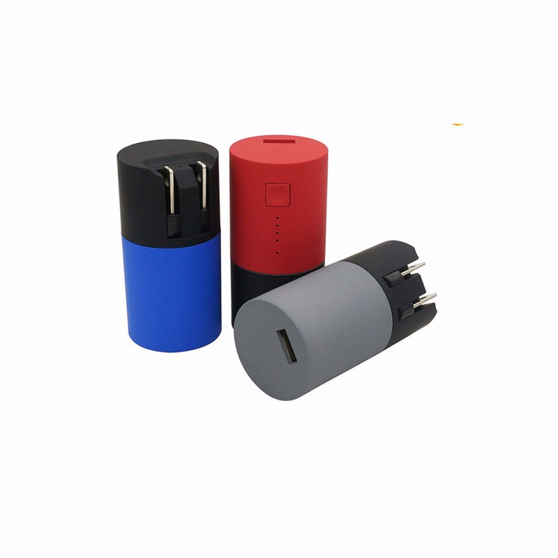 2016 New 2600mah Multifunction cylinder charging treasure universal mobile phone portable power bank