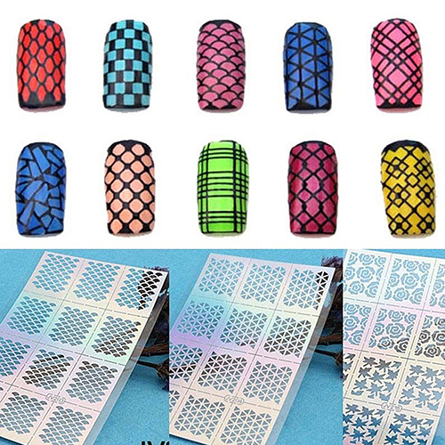 Wholesale Price Nail Art Hollow Template Sticker Stamp Stencil Guide Manicure Tips Stamping Tool(China (Mainland))