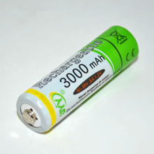 Wholesale 4pcs/lot 1.2V AA NIMH Battery Rechargeable Batteries 3000MAH NIMH AA 1.2V Up to 1100 times