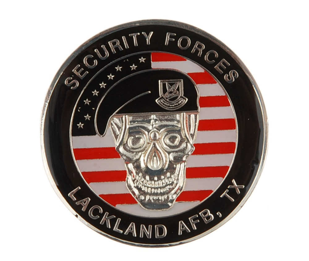 US SECURITY FORCES LACKLAND AFB TX CHALLENGE COIN-1181(China (Mainland))