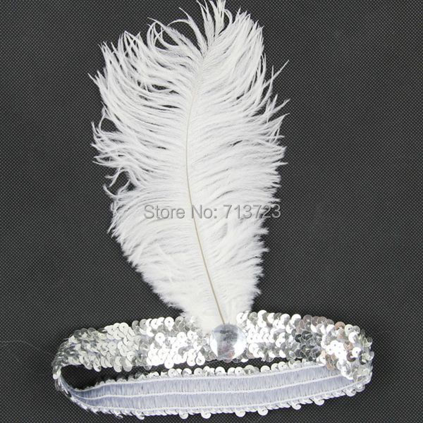 ostrich feather headbands 0811E
