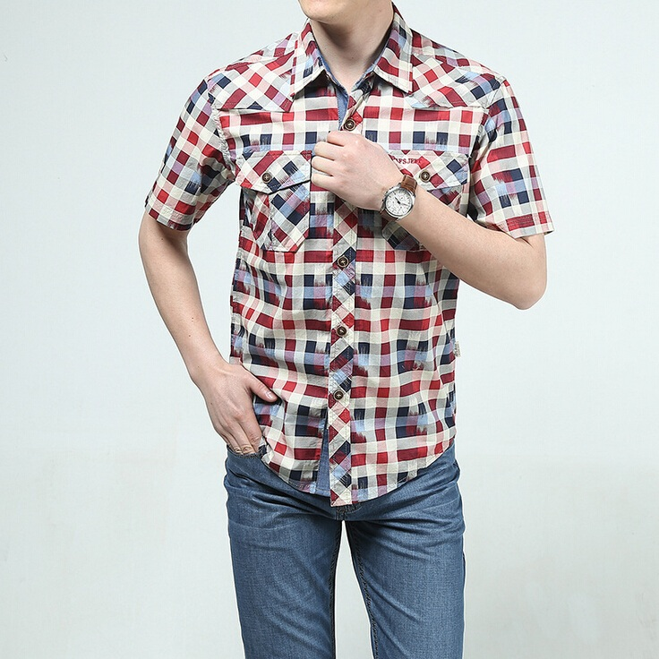 Buy 2015 famous brand men 39 s shirt short for Best place to buy mens dress shirts