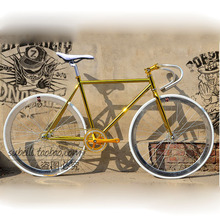 Buy 2016 Road Bicycle 2016 newest Design Fixed Gear Bike Promotion Diy Complete Road Bike, Retro frame plating frameType 700C 52CM for $168.26 in AliExpress store