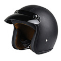 man women casco vintage scooter jet helmet motorcycle black white helmets pilot open face vespa helmet