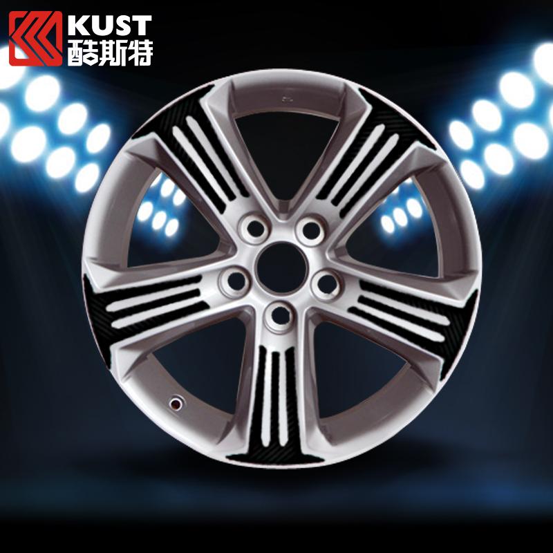 One Set Of Carbon Fiber Vinyl Material Tyre Hub Sticker For RAV4 Decoration Wheel Hub Sticker For Toyota For RAV4 2013 2014 2015(China (Mainland))