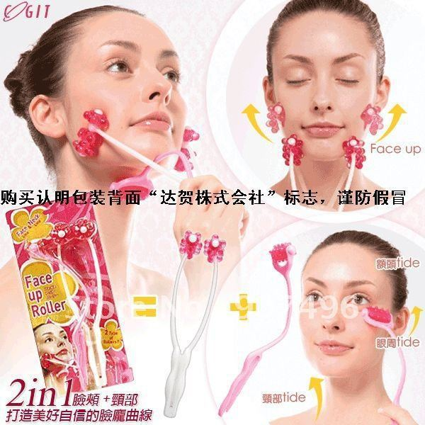 2-in-1 face, neck roller massage+free shipping HOT Selling!!Retail&Wholesale