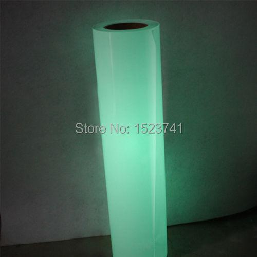 2yards PU Vinyl Glow In The Dark Light Heating Transfer Vinyl Heat Press(China (Mainland))
