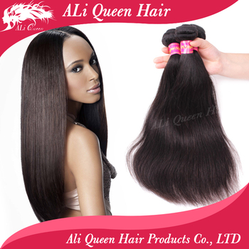 6A Brazilian virgin hair straight 3pcs Ali Queen hair products 100% unprocessed virgin human hair weave Brazilian straight hair