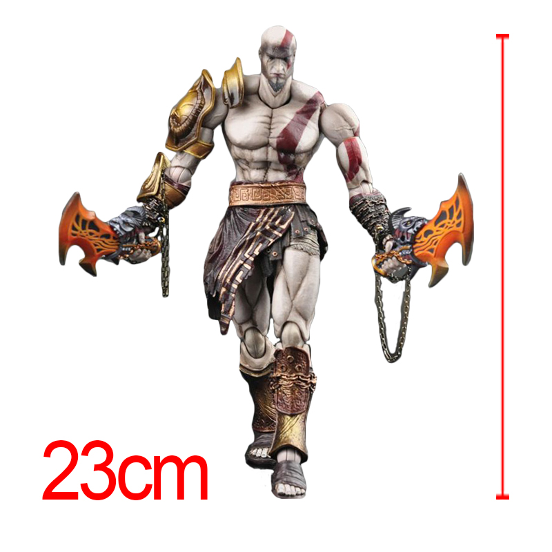 Anime Game SQUARE ENIX PlayArts KAI God of War Kratos PVC Action Figure Collectible Model Toy ACGN figure Doll 23cm Brinquedos