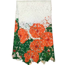 Buy New high African guipure lace fabric wedding dresses.Water soluble Nigerian print Lace 5y/lot.African cord lace for $50.16 in AliExpress store