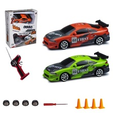 RC Car 4WD 1:24 Drift Car Toys For Childen High Speed Type Original Box Colorful Light Drifting and Racing 2 in 1(China (Mainland))