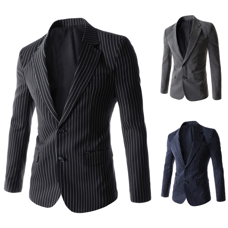 2015 new men stripes two grain of leisure suitОдежда и ак�е��уары<br><br><br>Aliexpress