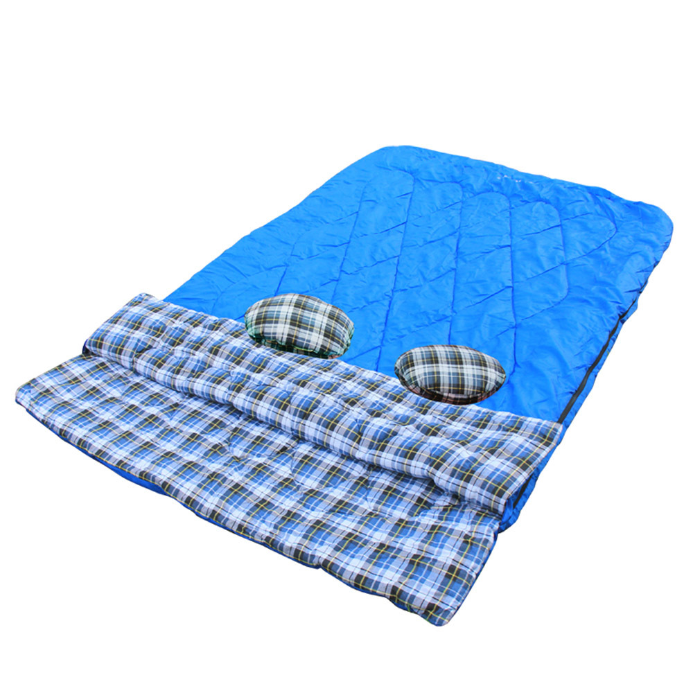 """HLY-S1008 Adult Use Huge Double Sleeping Bag -10 Degree 2 Person Camping Hiking Bag 87""""*57"""" w/ 2 Small Pillows Sleep Rest Bag(China (Mainland))"""