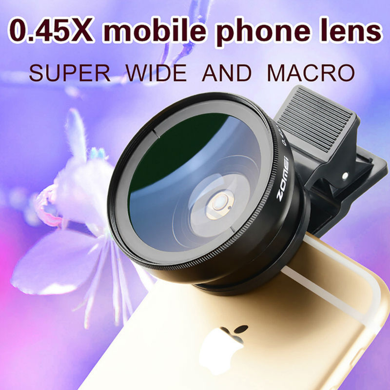 Zomei Mobile Phone Lens Wide angle Lens Super Macro 2in 1 Lens Kit Lens for iPhone 6S 6 Samsung HTC Sony(China (Mainland))