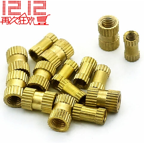 Injection of copper nut insert embedded parts flower female knurled M6 * 7.8 12<br><br>Aliexpress