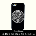 yin yang zentangle Hard White Skin Case Cover for iPhone 4 4s 5 5s 5g