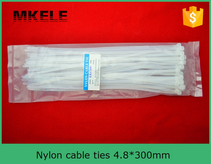 Hot Sale cable tie with label MKCT 4 8 300 Factory Direct 100Pcs Bag