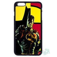 Fit for iPhone 4 4s 5 5s 5c se 6 6s 7 plus ipod touch 4/5/6 back skins cellphone case cover Superman Batman Combine